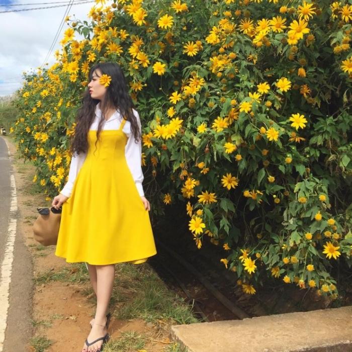 Vào những ngày cuối tuần tháng 10, 11 những bạn trẻ thường đi du lịch Đà Lạt để được tự mình ghi lại những hình ảnh rực rỡ của mùa hoa dã quỳ Đà Lạt