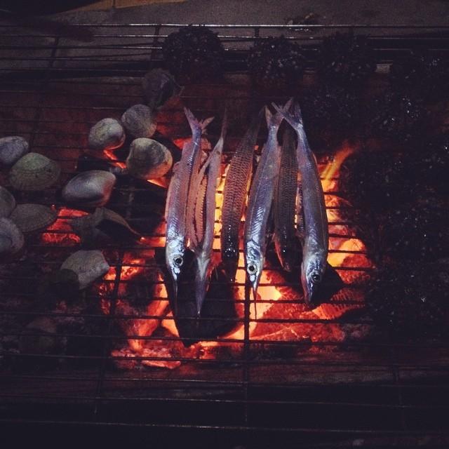Bạn có thể ngồi nướng cá với nhóm bạn khi cắm trại qua đêm trên biển\